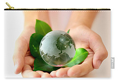 Eco Hands And Globe Carry-all Pouch
