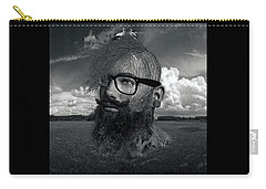 Eco Hipster Black And White Carry-all Pouch