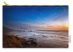 Ecola State Park At Sunset Carry-all Pouch by Ian Good