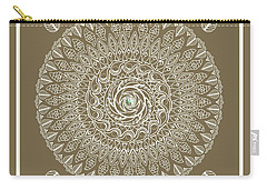 Ecru Mandala Carry-all Pouch