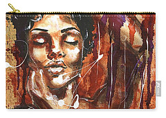 Carry-all Pouch featuring the painting Ecstacy by Alga Washington