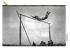 Carry-all Pouch featuring the painting Ed Cook In The Pole Vault by Artistic Panda