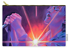 Eddie Vedder And Lights Carry-all Pouch by Joshua Morton