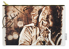 Carry-all Pouch featuring the pyrography Eddie Vedder by Lance Gebhardt