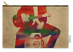 Eddie Vedder Pearl Jam Watercolor Portrait Carry-all Pouch
