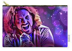 Eddie Vedder Portrait Carry-all Pouch by Scott Wallace