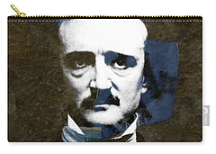 Carry-all Pouch featuring the mixed media Edgar Allan Poe  by Paul Lovering