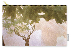 Edge Of The Forrest Carry-all Pouch by Marilyn Jacobson