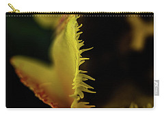 Carry-all Pouch featuring the photograph Edge Of The Tulip by Jay Stockhaus