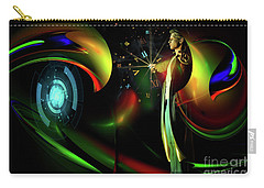 Carry-all Pouch featuring the digital art Edge Of Time by Shadowlea Is