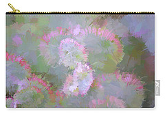 Edged In Pink Carry-all Pouch by Bonnie Bruno