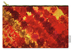 Edgy Flowers Through Glass Carry-all Pouch