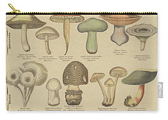 Edible And Poisonous Mushrooms Carry-all Pouch by French School