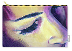 Carry-all Pouch featuring the painting Edie Sedgwick Bright Silence  by Rene Capone