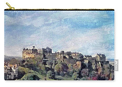 Carry-all Pouch featuring the painting Edinburgh Castle Bright by Richard James Digance