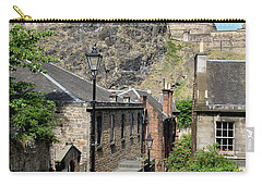 Carry-all Pouch featuring the photograph Edinburgh Castle From The Vennel by Jeremy Lavender Photography