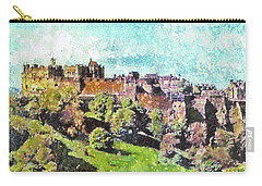 Carry-all Pouch featuring the painting Edinburgh Castle Skyline No 2 by Richard James Digance