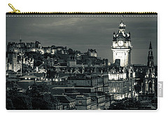 Edinburgh In Black And White Carry-all Pouch