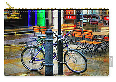 Carry-all Pouch featuring the photograph Ed's Easy Diner Bicycle by Craig J Satterlee