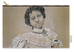 Edwardian Ebony Elegance -- Portrait Of Edwardian African-american Woman Carry-all Pouch