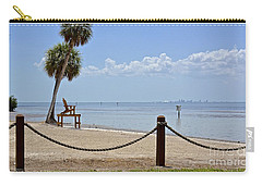 Carry-all Pouch featuring the photograph E G Simmons Park Beach by Carol  Bradley