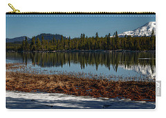 Carry-all Pouch featuring the photograph Egret At Lava Lake by Cat Connor