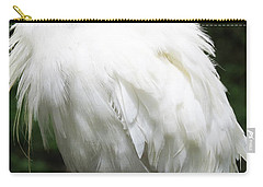 Egret Feeling Ruffled Carry-all Pouch