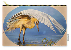 Chloe The  Flying Lamb Productions                  Egret Fishing Carry-all Pouch