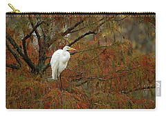 Egret In Autumn Carry-all Pouch