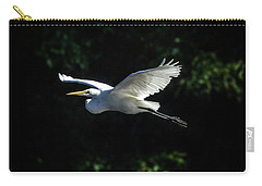 Egret In Flight Art Greenfield Lake Carry-all Pouch