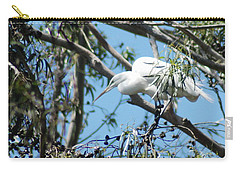 Egret In Rookery Carry-all Pouch