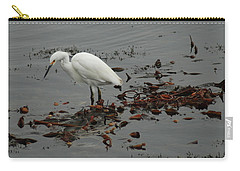Egret On Seaweed Raft Carry-all Pouch