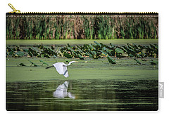 Egret Over Wetland Carry-all Pouch