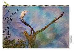 Egret Tree Carry-all Pouch
