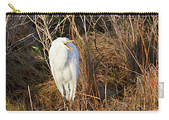 Carry-all Pouch featuring the photograph Egret With Something To Say by George Randy Bass