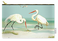 Egrets Crabbing Carry-all Pouch