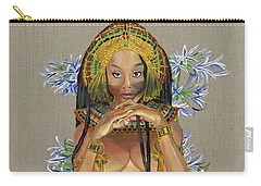 Carry-all Pouch featuring the painting Egyptian Cotton by Baroquen Krafts
