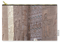 Carry-all Pouch featuring the photograph Egyptian Hieroglyphs by Silvia Bruno