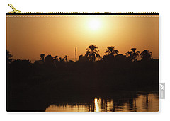 Carry-all Pouch featuring the photograph Egyptian Sunset by Silvia Bruno