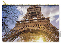Carry-all Pouch featuring the photograph Eiffel Sunset by Delphimages Photo Creations