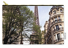 Carry-all Pouch featuring the photograph Eiffel Tower 2b by Andrew Fare