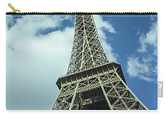 Carry-all Pouch featuring the photograph Eiffel Tower by Allen Sheffield