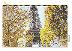 Carry-all Pouch featuring the photograph Eiffel Tower Amidst The Autumn Foliage by Ivy Ho