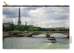 Eiffel Tower And The River Seine Carry-all Pouch