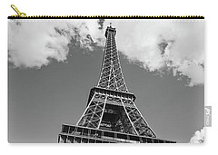 Eiffel Tower - Black And White Carry-all Pouch