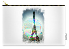 Eiffel Tower Bubble Carry-all Pouch