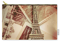Eiffel Tower Old Romantic Stories In Ancient Paris Carry-all Pouch by Jorgo Photography - Wall Art Gallery