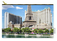 Eiffel Tower Paris Casino In Front Of The Bellagio Fountains Carry-all Pouch
