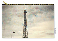 Carry-all Pouch featuring the photograph Eiffel Tower Paris by Lynn Bolt