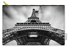 Carry-all Pouch featuring the photograph Eiffelt Tower From Below - Paris by Barry O Carroll